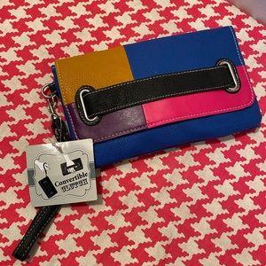 Colorblock Convertible Clutch Wristlet